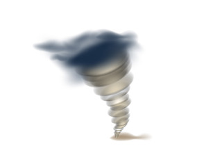Tornado swirl isolated icon. Natural disaster and danger catastrophe. Warning about emergency situation vector illustration in cartoon style.