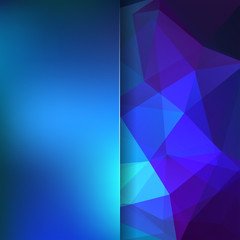 Abstract polygonal vector background. Blue geometric vector