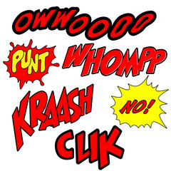 Set of Comic expression Text -Vector Illustration
