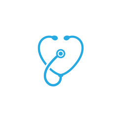 hospital and stethoscopes logo