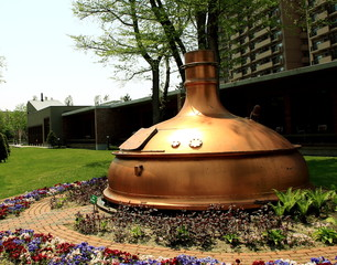 Old distillation kettle in sapporo