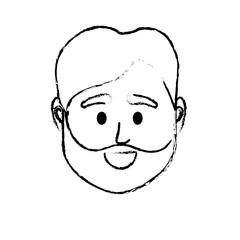 figure avatar man head to social user