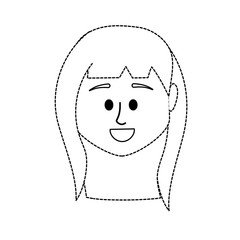 dotted shape avatar woman head to social user
