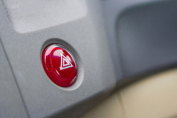 Emergency button in car with black zone.