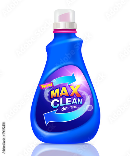 Detergent cleaning design pack. Detergent product for templates ...