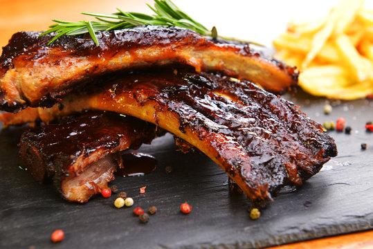 potatoes and pork ribs