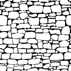 Stones seamless pattern. Vector. Rock Stone wall seamless texture, stonewall background, brick stone wall nature texture, stonewall patten, stone background