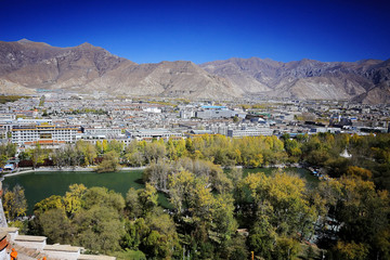 city view in Tibet china