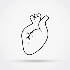 Outline heart vector icon.