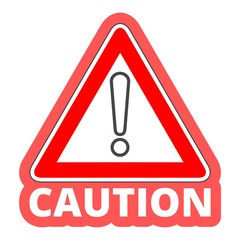 Attention caution sign