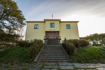Picture of staricase and entrance to Arkivet, a museum in Kristiansand, the building was headquarter for Gestapo under world war II.