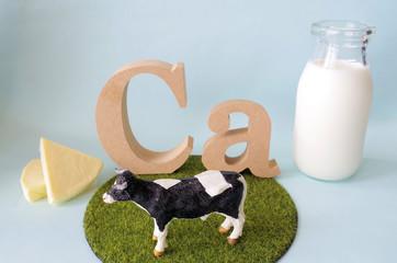 牛とカルシウムイメージ