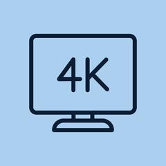 4k monitor icon