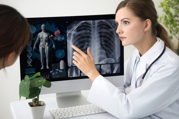 Female medical doctor. Medical examination concept.