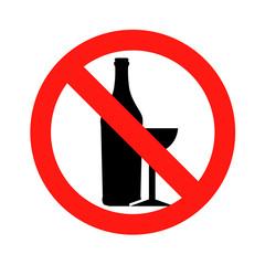 No alcohol No drunk sing symbol icon vector illustration eps