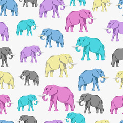 elephants. seamless pattern