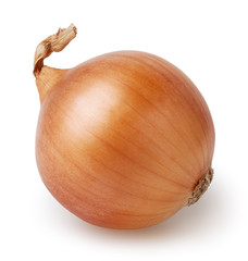 Bulb of onion isolated on white background with clipping path