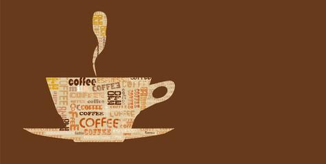 coffee design template, coffee menu, free copy space, vector