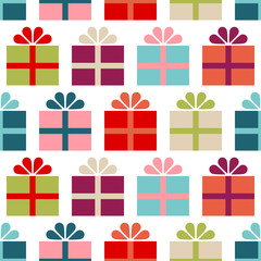 Seamless Pattern Big Gifts Color