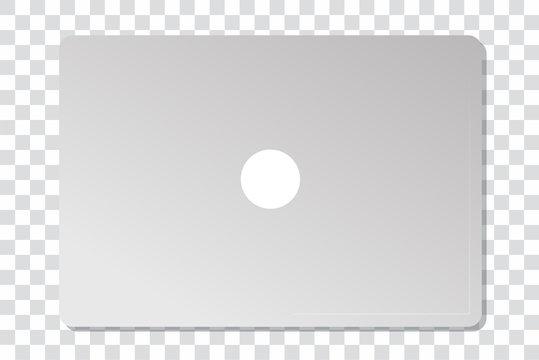 zugeklappter Laptop auf transparentem Hintergrund