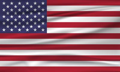 Vector flag of USA. Vector illustration