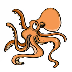 cute octopus illustration cartoon