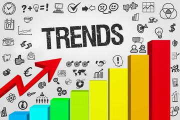Trends / Diagramm mit Symbole