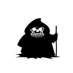 Grim reaper halloween vector icon illustration isolated on white background.