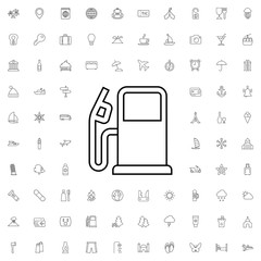 Fuel icon. set of outline tourism icons.