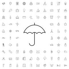 Umbrella icon. set of outline tourism icons.