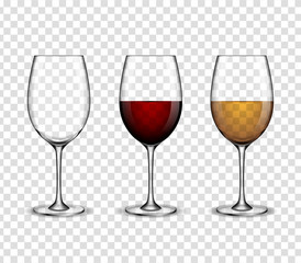 Mockup wine wineglass. vector design.