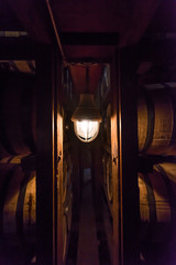 Fototapete - Single Lamp in Bourbon Warehouse