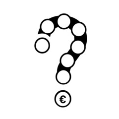 Concept of a modern question mark with many circle to set an icon. Vector illustration.