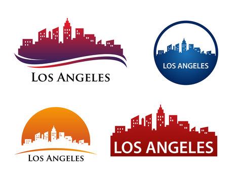 Los Angeles City Skyline Logo Template