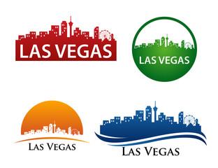 Photo sur Toile Las Vegas Las Vegas City Skyline Logo Template