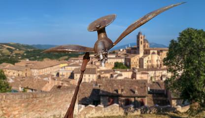Urbino - Sculpture of an iron bird