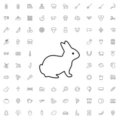 Rabbit icon. set of outline agriculture icons.