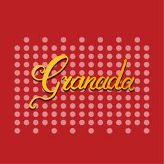 Granada hand lettering