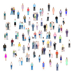 Different groups of people, vector illustration