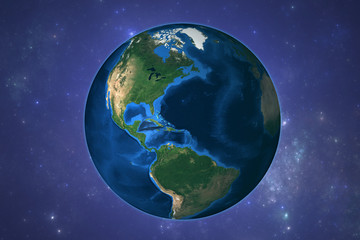 Planet Earth with starry background. Elements of this image furnished by NASA