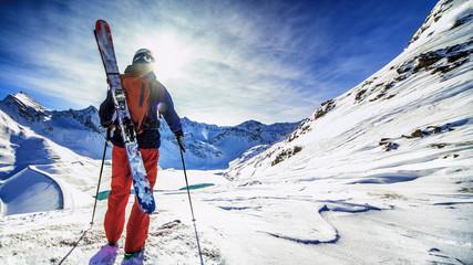 Poster de jardin Glisse hiver Ski trip