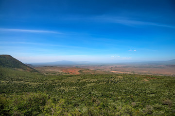 Scenic landscape of Great Rift Valley