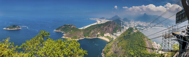 Fotobehang Rio de Janeiro Blick vom Zuckerhut