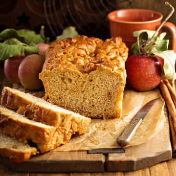 Apple bread rustic style