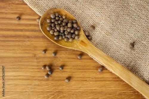Black pepper scented wooden spoon  Fitness diet  Oak