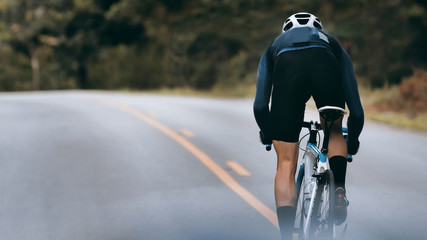 Cyclist increase speed by sprint.