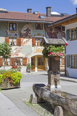 Holzbrunnen in Mittenwald