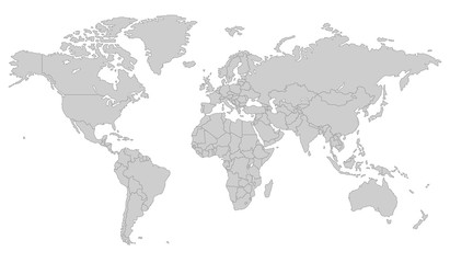 Grey Vector world map