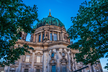 Beautiful view of historic Berlin Cathedral (Berliner Dom) at sunrise, Berlin, Germany