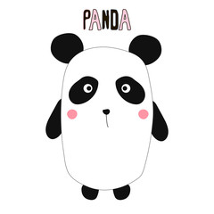 Funny little panda. Kids graphic. Vector hand drawn illustration.